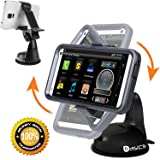 Accessory Basics MT G KIT-2 Smartphone Claw Holder With 360° Swivel Rotation & Sticky Dashboard Windshield Suction Mount for Smart Phones up to 4-Inch wide
