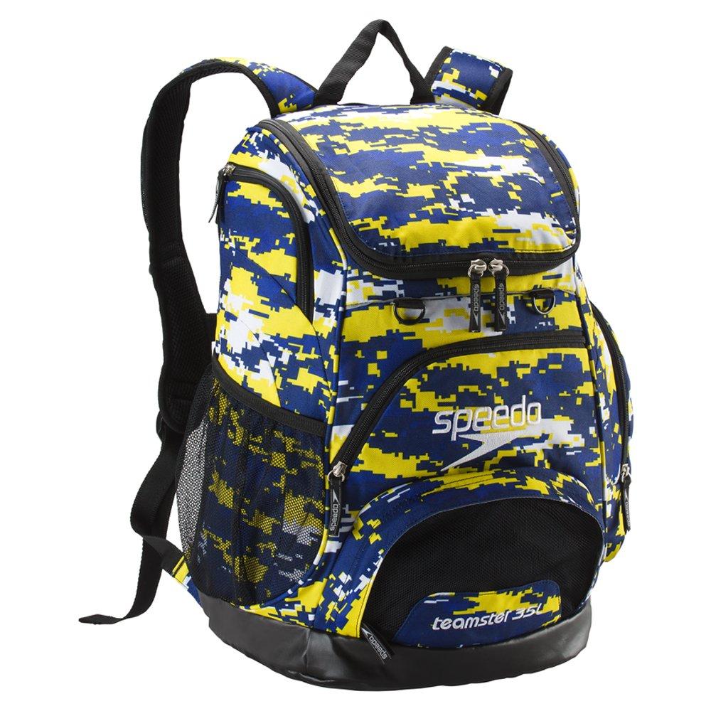 Speedo Printed Teamster 35L Backpack, Camo Blue, 1SZ
