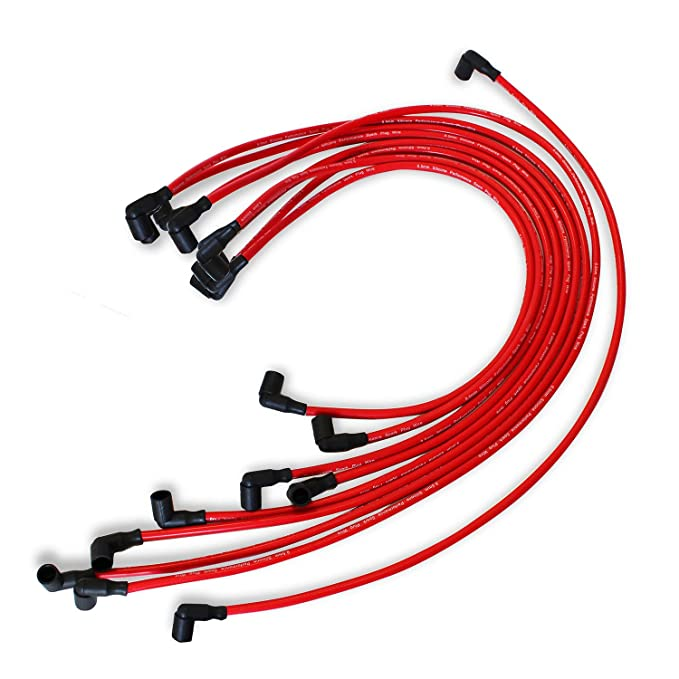 amazon com 9 5 mm red spark plug wires distributor for chevy bbc Chevy 454 1950
