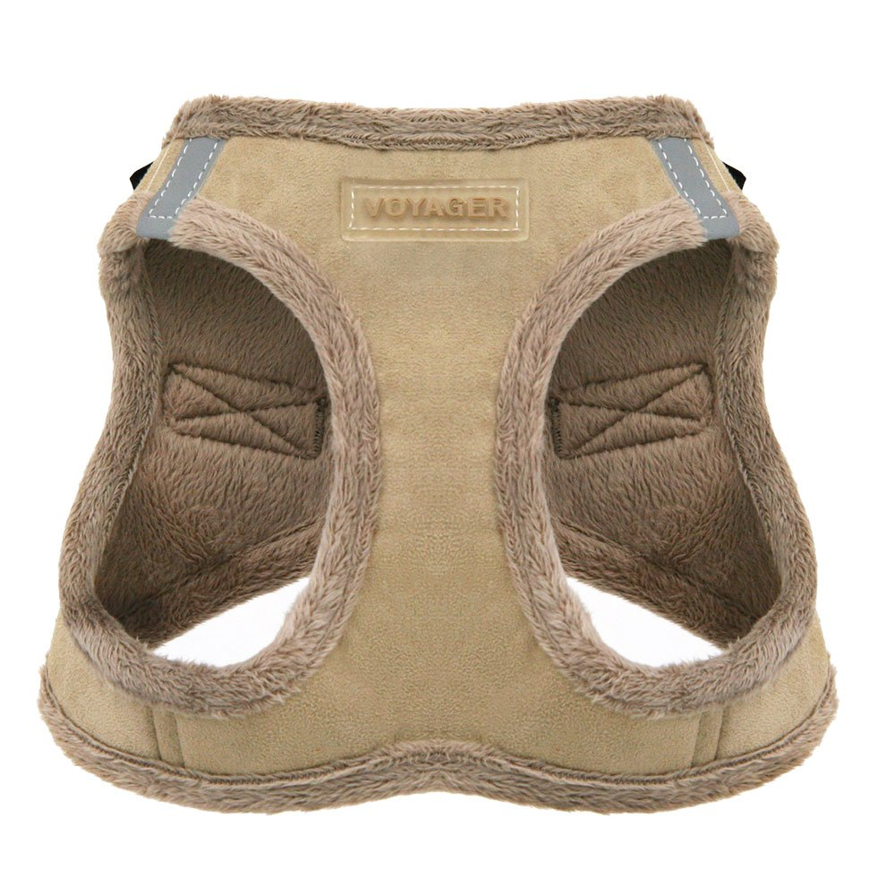 Voyager Soft Harness for Pets - No Pull Vest, Best Pet Supplies, Small, Latte Suede