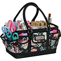 Everything Mary Craft Bag Organizer Tote, Floral - Storage Art Caddy for Sewing & Scrapbooking - Crafts Supply Carrier w…