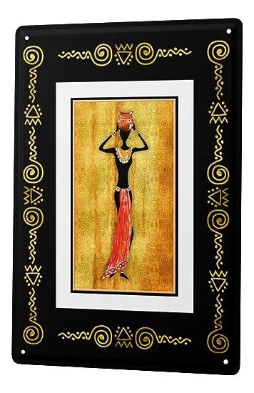 Amazon.com: Cartel de chapa Gira Mundial Mujer africana ...