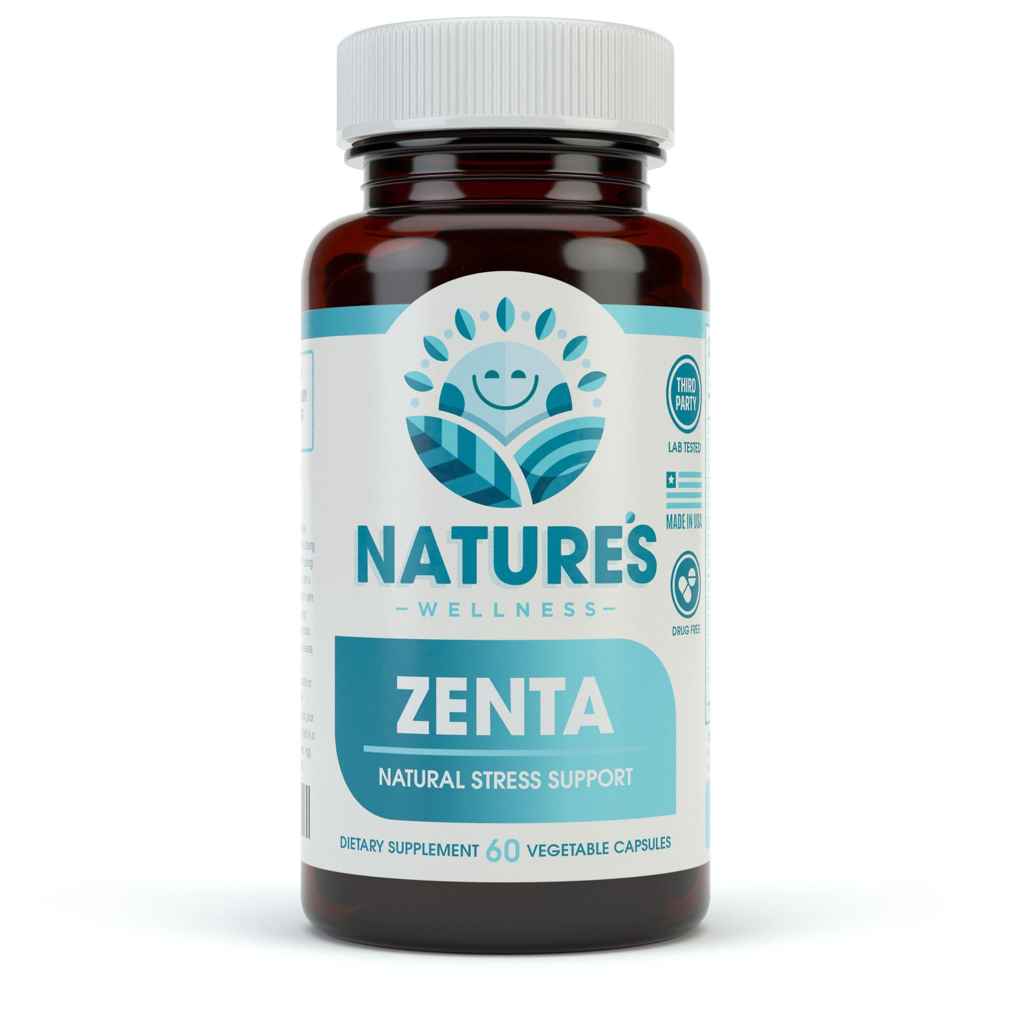 ZENTA - The Natural Anxiety Relief and Anti Stress Supplement to Help Calm Body and Mind   Positive Mood Enhancer - Increase Serotonin Levels with GAB, 5-HTP, Ashwagandha, Chamomile, DMAE   60 ct