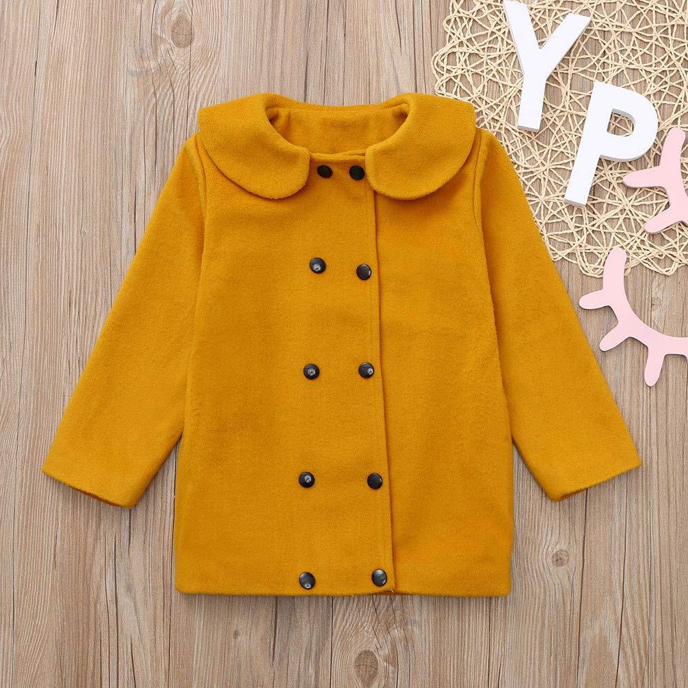 HUHU833 Baby Mantel Kinder Baby M/ädchen Winter Einfarbig Mantel Jacke Dicke Warme Oberbekleidung Kleidung