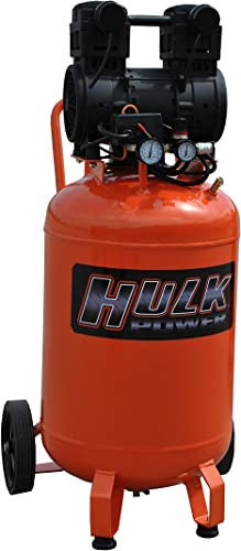 2 HP Quiet Portable Air Compressor, 125 PSI, 20 Gallon, HULK Silent Series, Model HP02P020SS by EMAX Compressor