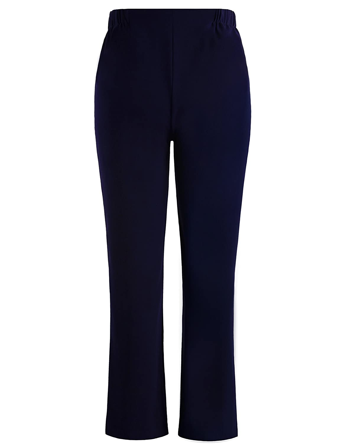 bb2e972133208d Chicwe Women's Plus Size Curvy Fit Boot Cut Pants - Casual and Work Pants  Trousers at Amazon Women's Clothing store: