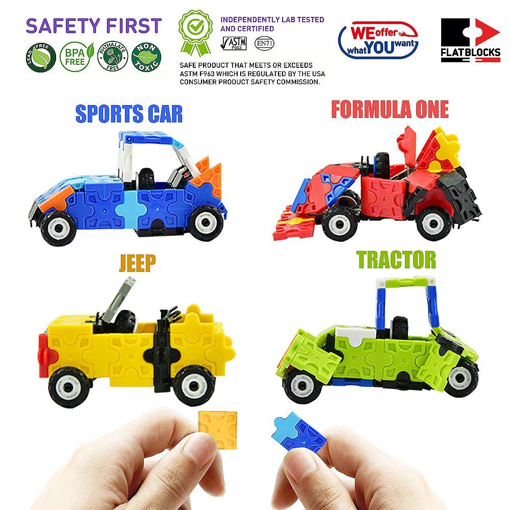Traktor /& Co 3D Puzzle Bausatz f/ür Kinder ab 4 Jahre FLATBLOCKS Level 1-273 Teile WEofferwhatYOUwant Auto DIY