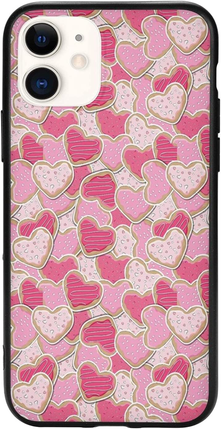 for iPhone 11 Case, Cool Design, Heart Shaped Cookies Romantic Surprise Tasty Goodies for Love,Case for iPhone 11 Cover (6.1inch)