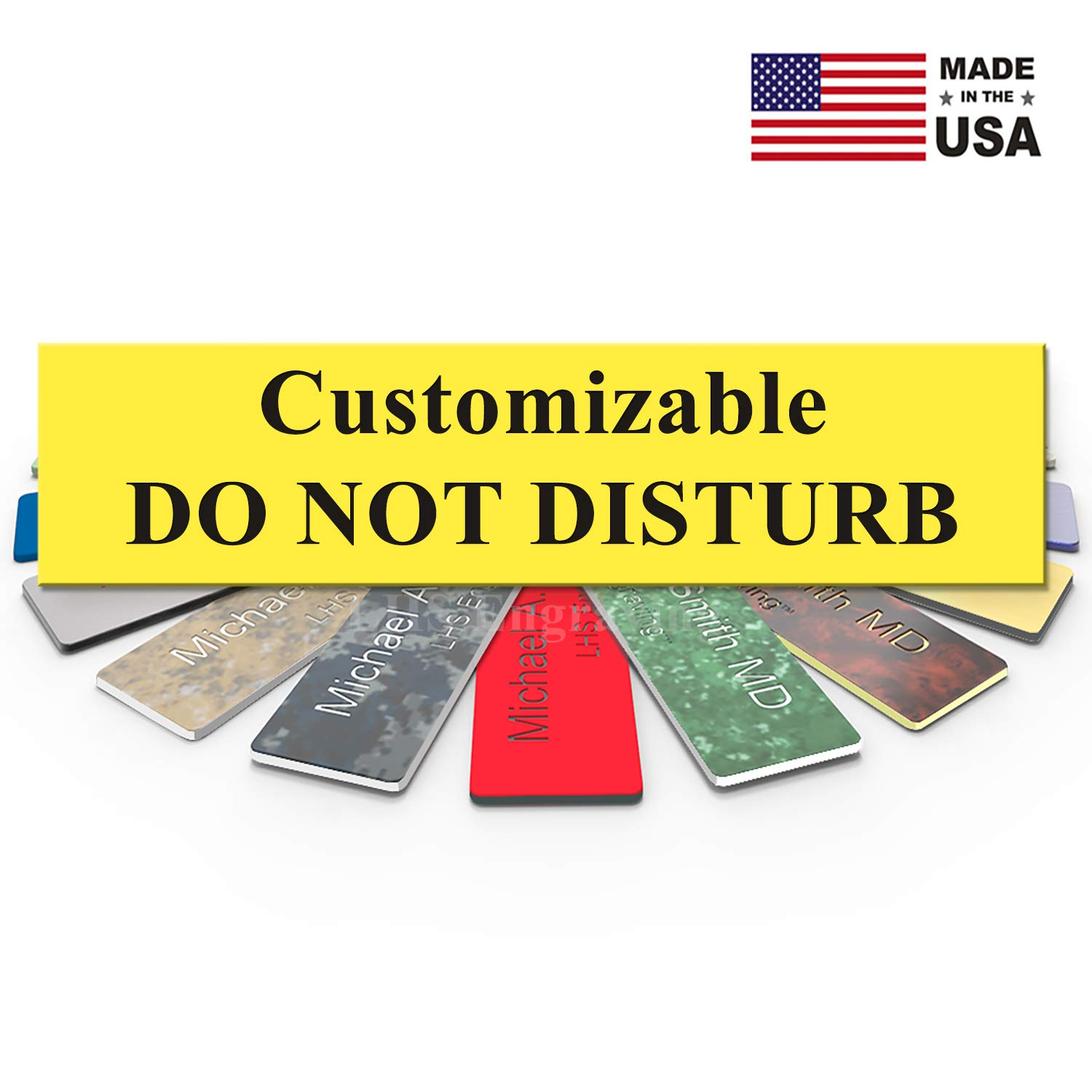 Recording Therapists Gray Plastic /& Black Letters Customizable Please Do Not Disturb Sign Name Plate for Office USA Made 2x8 Cubicle Privacy LHS Signs B8