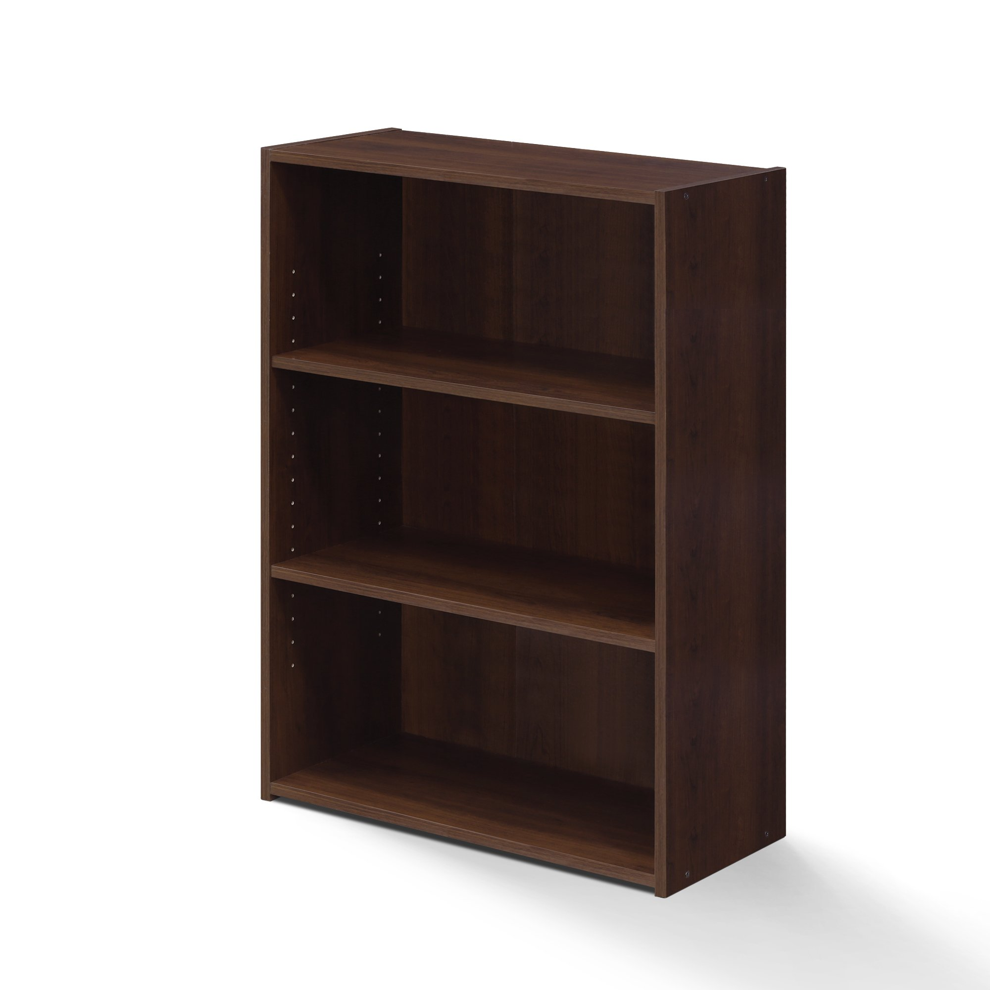 Furinno 17060BC 3 Bookcase, 3 Shelf, Brook Cherry