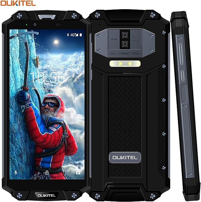 Impermeable Smartphone,OUKITEL WP2 6.0 Pulgadas Dual SIM 4G IP68 Móviles Libres,6GB RAM 64GB ROM 10000mAh La Batería Android 8.0 Móvil, Negro: Amazon.es: Electrónica