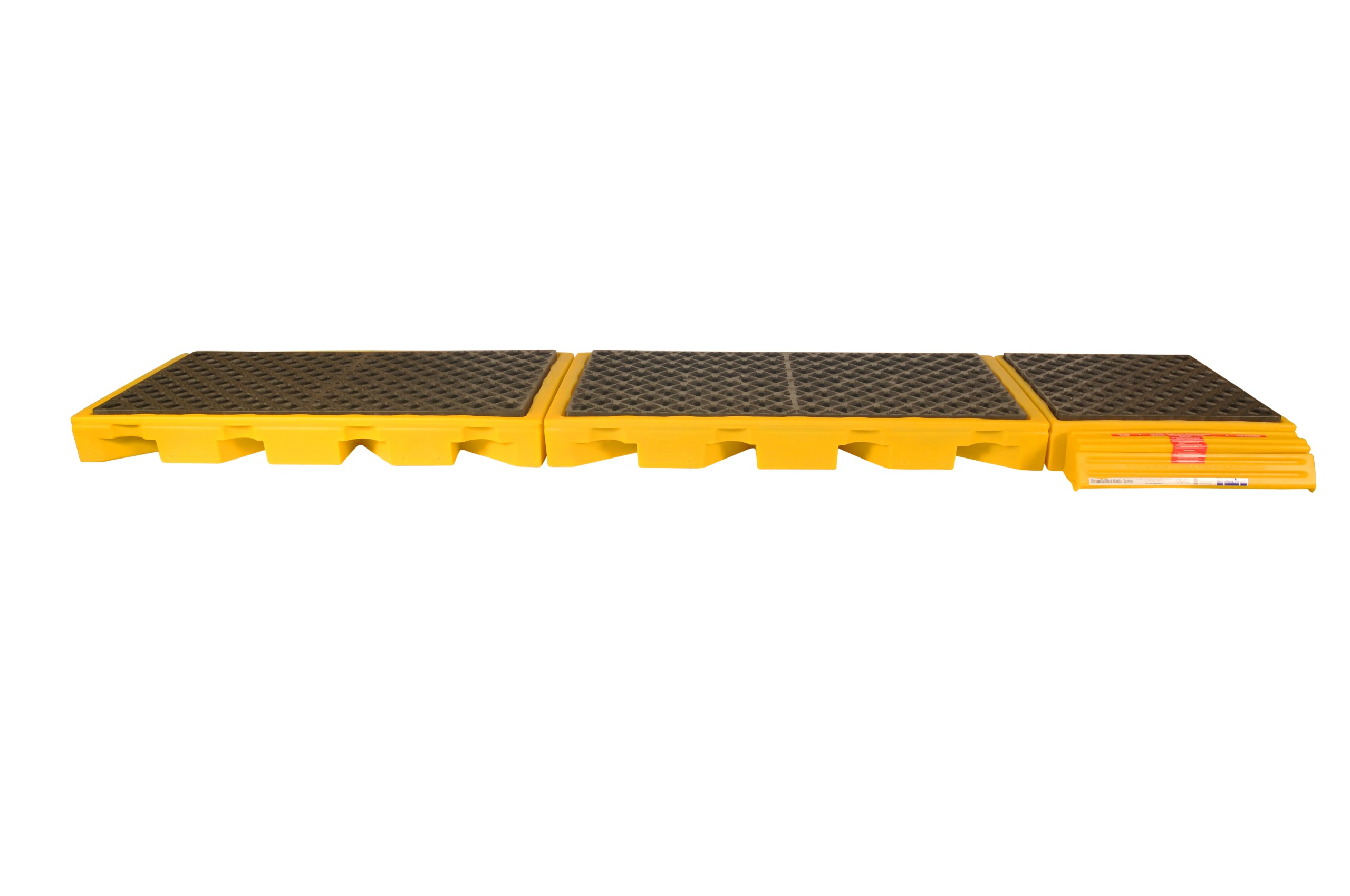UltraTech 2333 Ultra InLine Spill Deck with 5-Drum, 7500 lbs Load Capacity, 5 Year Warranty, Yellow