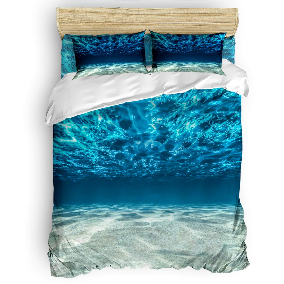 掛け布団カバー 4点セット 美しい熱帯 椰子の木 緑 寝具カバーセット ベッド用 べッドシーツ 枕カバー 洋式 和式兼用 布団カバー 肌に優しい 羽毛布団セット 100%ポリエステル キング B07TC3MKFR Beach32LAS0697 キング
