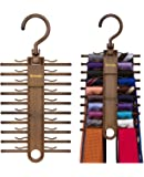 2-PACK Tenby Living Tie Racks, Organizer, Hanger, Holder - Affordable Tie Rac...