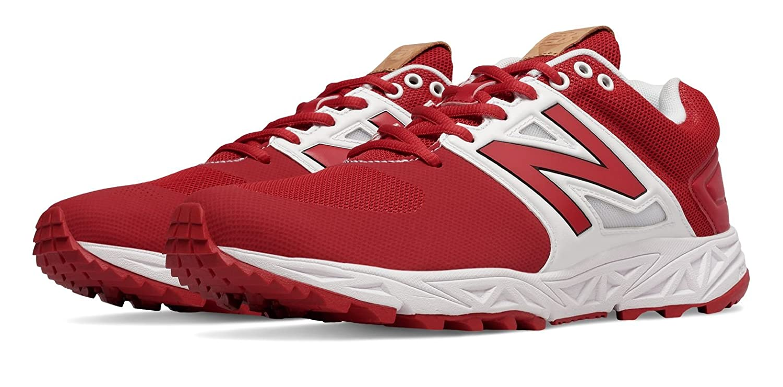 (ニューバランス) New Balance 靴シューズ メンズ野球 Turf 3000v3 Red with White レッド ホワイト US 7.5 (25.5cm) B01J5BSZ10