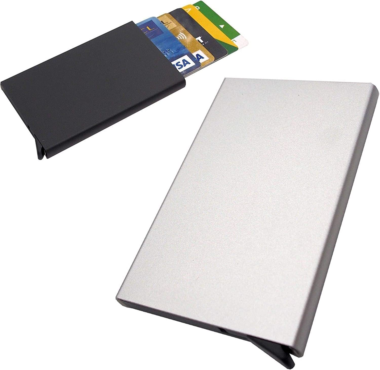 Porte-Cartes de cr/édit Automatique Pop-up en Aluminium L0949 argent/é LIVAN/® Rangez /& SECURISEZ Vos Cartes Mini Portefeuille