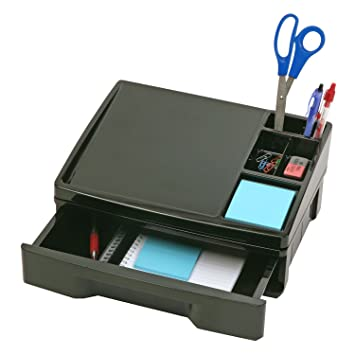 High Quality OfficemateOIC Recycled Telephone Stand Organizer With Storage Drawer, Black  (26093)