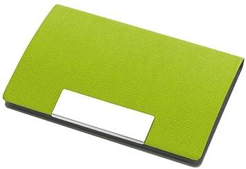 Visitenkartenetui Magnetisch Visitenkartenhalter Mappe Grün 9 6 X 6 5 X 1 1 Cm Visitenkartenhalter Box