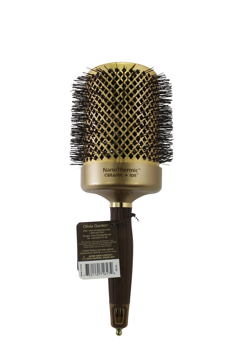 Olivia garden ceramic and ion mega 4 1 4 inch hair brushes beauty Olivia garden nanothermic brush