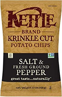 product image for Kettle Brand Potato Chips, Krinkle Cut Salt and Pepper Bags, 13 Ounce (Pack of 5)