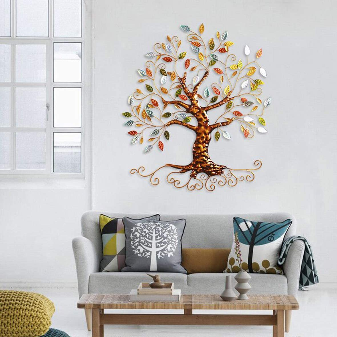 Tree of Life – Metal Tree Wall Sculpture, Gold Tree Home Decor