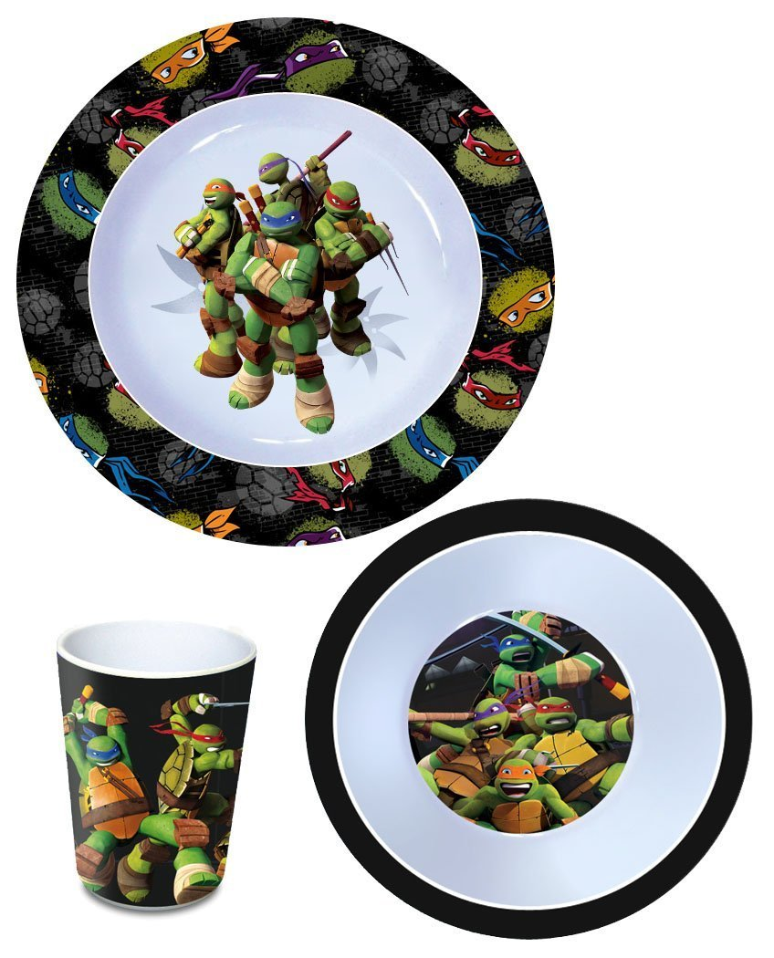 Las tortugas Ninja Juego de desayuno melammina Teenage ...