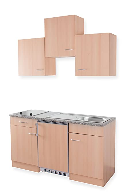 Mebasa MEBAKB1500BBC - Cucina di Piccole Dimensioni, 150 cm ...