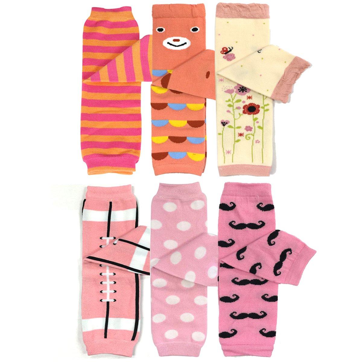 Bowbear Baby & Toddler Girls Set of 6 Assorted Leg Warmers, GS01 by Bowbear