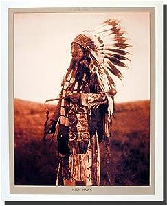 Native American High Hawk Indian Chief Wall Decor Art Print Poster (16x20)