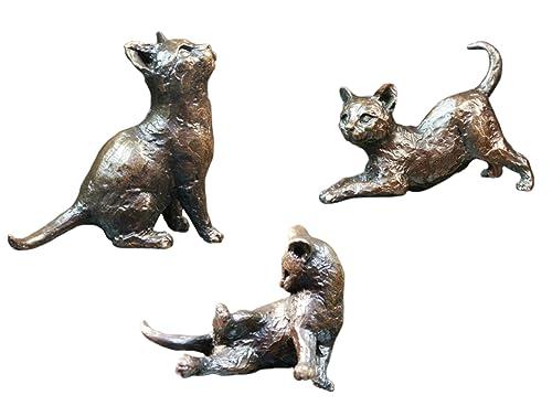 Bronce figuras tres Little gatitos - Edición limitada - 250 - Michael Simpson.: Amazon.es: Joyería