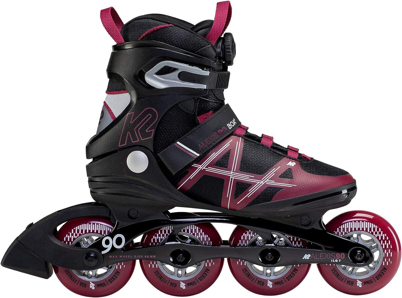 10.5 K2 Skate Alexis 90 BOA Black/_Burgundy