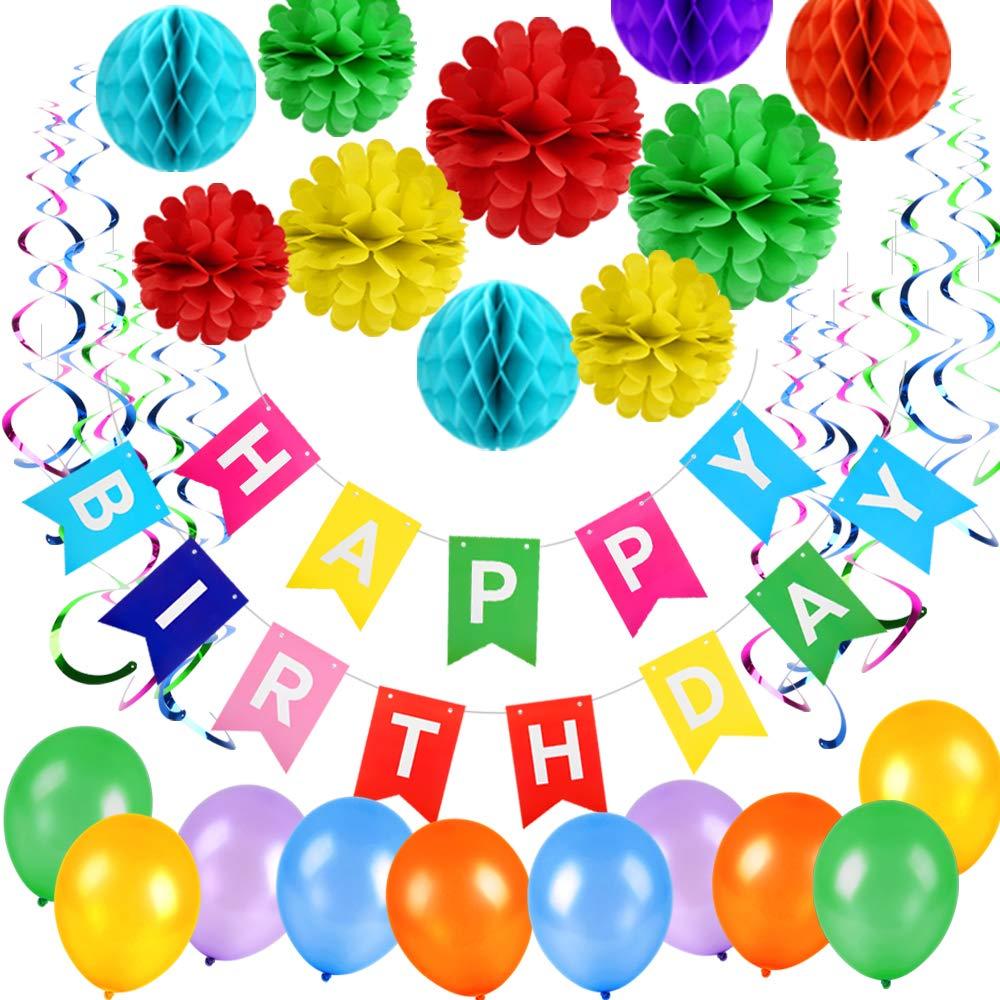 Arkmiido Geburtstagsdeko Party Deko Geburtstag Dekoration Happy
