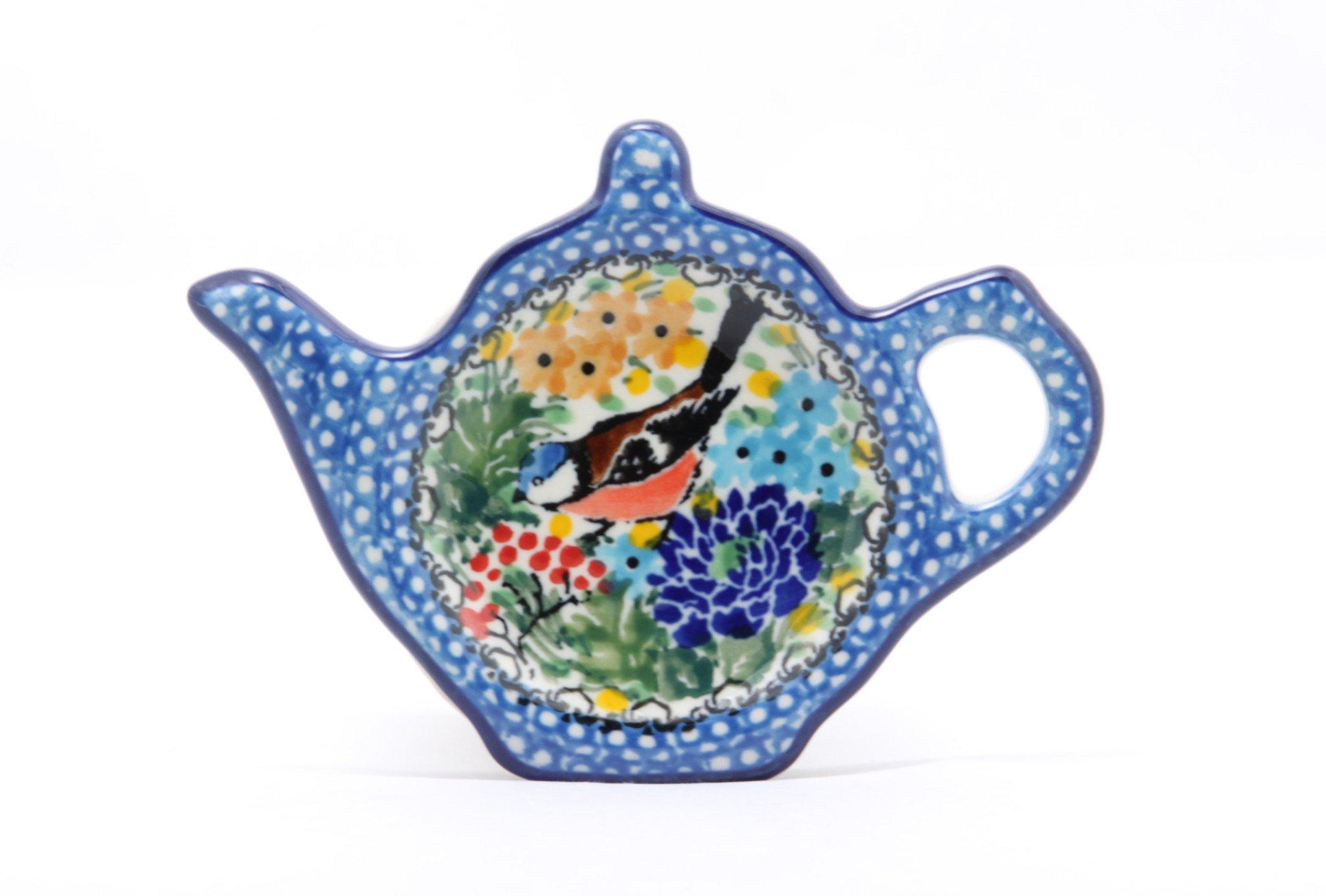 Polish Pottery Handmade Ceramic Tea Bag Plate Made in Poland by Ceramika Artystyczna