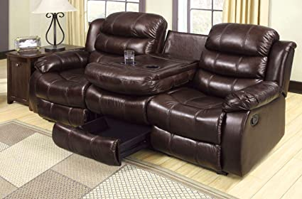 Amazon.com: Benzara BM182906 Luxury Leatherette Recliner ...