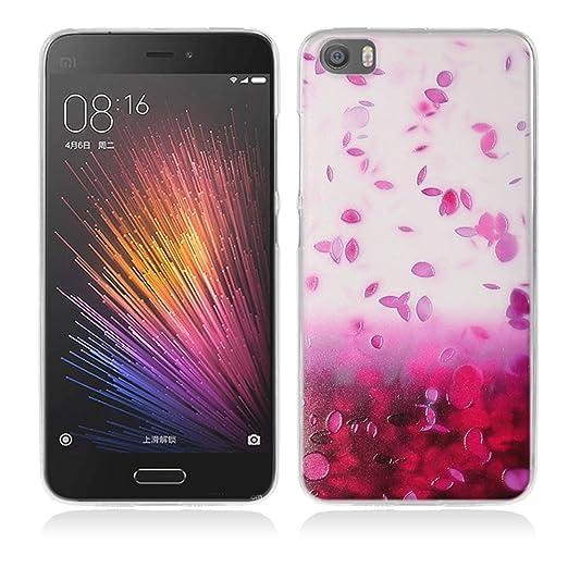 2 opinioni per Xiaomi Mi5 Cover, Fubaoda 3D Rilievo Bel fiore UltraSlim TPU Skin Cover