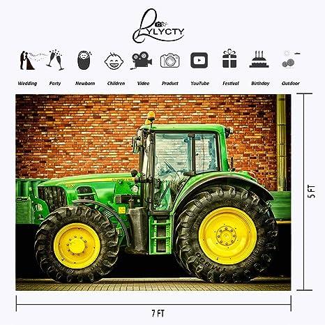 LYLYCTY LYGE1008 - Fondo para fotografía de John Deere Tractor, 7 x 1,5 m: Amazon.es: Electrónica