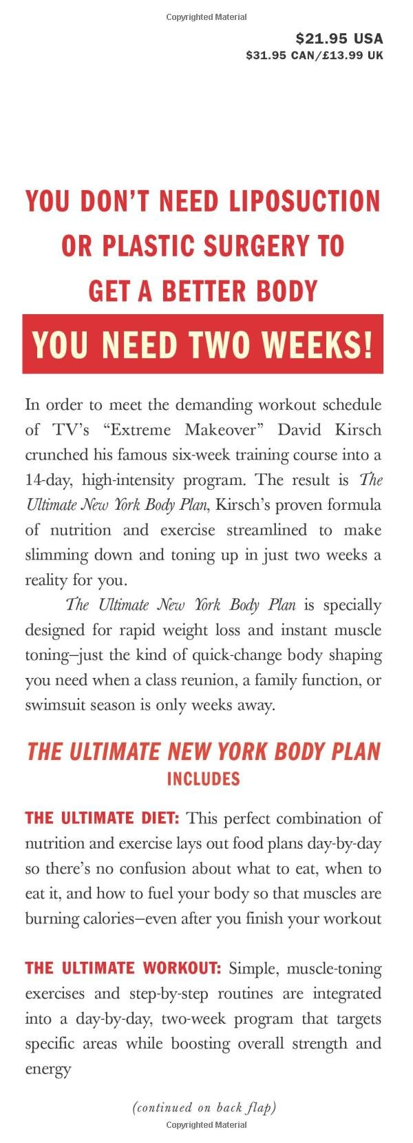 Ultimate York Body Plan transformation product image