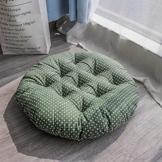 Tatami - Cojín de asiento para silla de interior y exterior, cojín para jardín, oficina, coche, redondo, almohadilla para silla 60X60cm(24x24inch) D