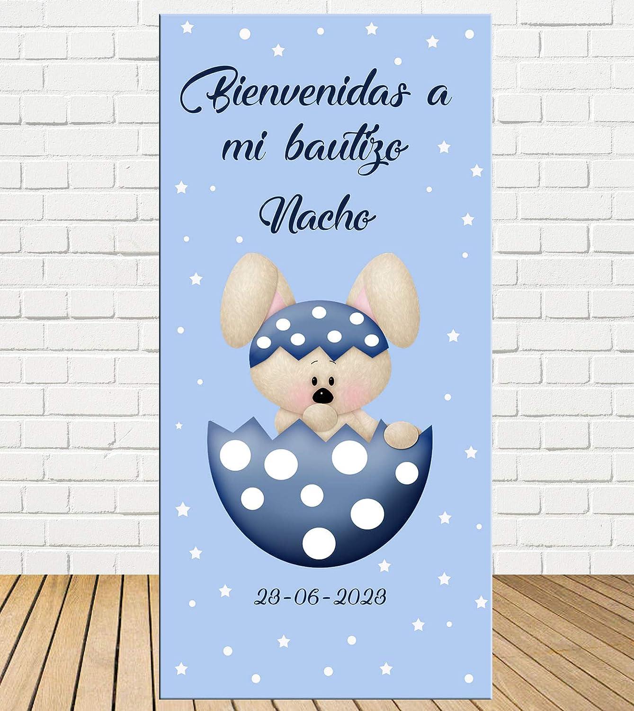 Tu Fiesta Mola Mazo Cartel de Bienvenida de Bautizo Conejo ...
