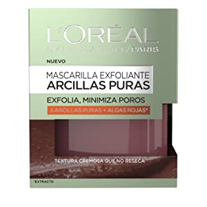 L'Oreal Paris Arcillas Puras Mascarilla Exfoliante, Tono: Roja - Total 50 ml