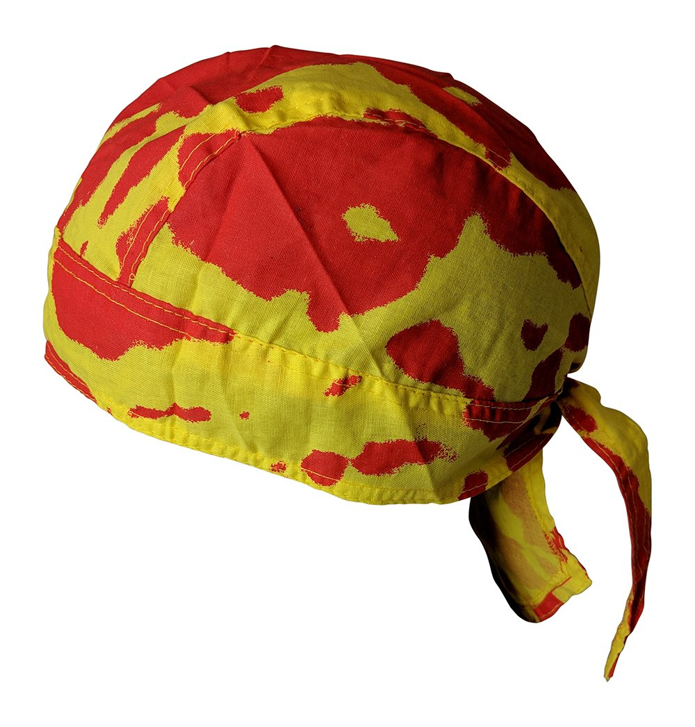 Tie Dye Bandana Skull Cap Doo Rag for Hulk Hogan Mens Costume by Main Event Market