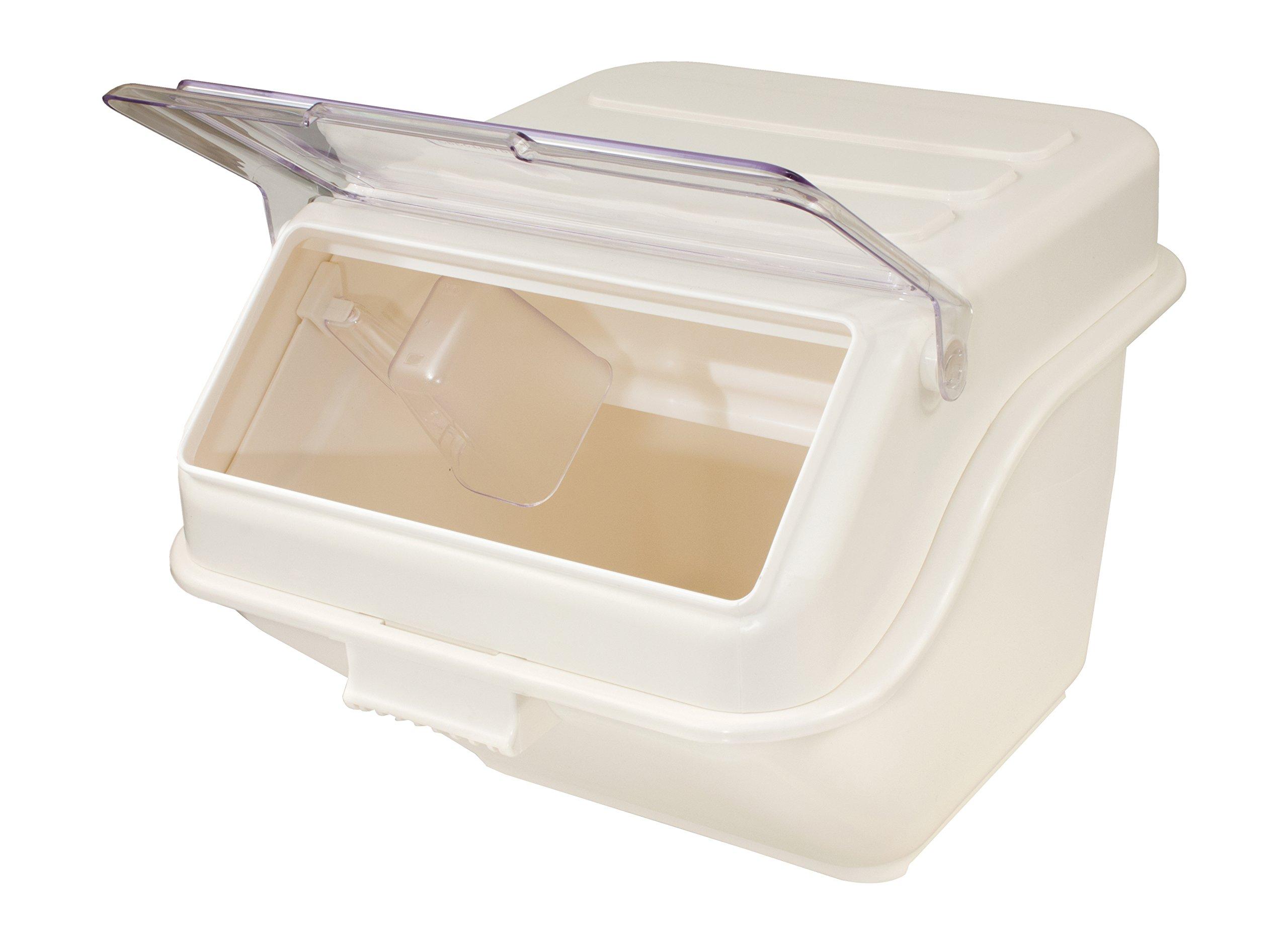 Crestware IN10 Shelf Ingredient Bin, 10 gallon, Beige