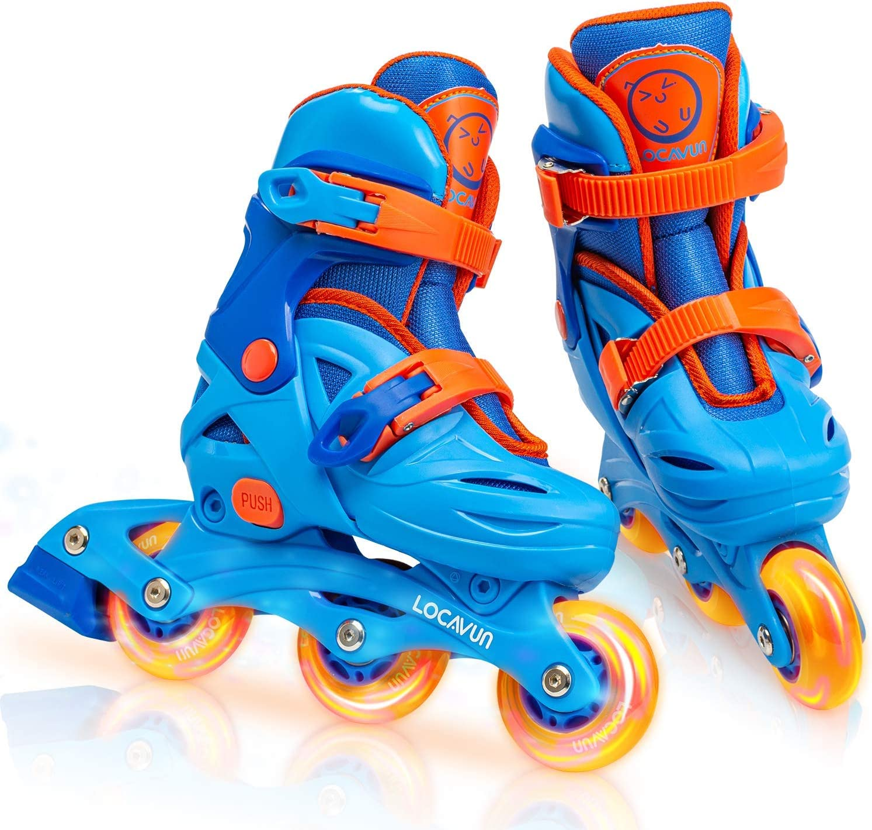 Locavun Adjustable Light up Inline Skates Shell Kids R Hard Max 41% OFF for 5 ☆ popular