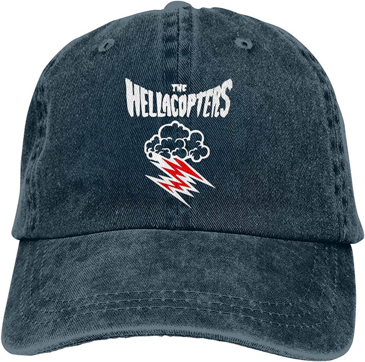 Zlizhi Hellacopters Men Women Plain Cotton Adjustable Washed Twill Low Profile Baseball Cap Hat