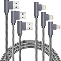 MFi Certified 10FT Lightning Cable iPhone Charger Cord 90 Degree Fast Data Cable Nylon Braided Compatible with iPhone Xs…