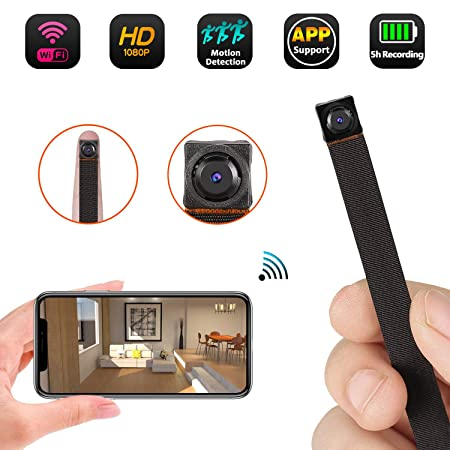 Mini WiFi Camera 1080P Wireless Hidden Camera Small Nanny Cam with Motion Detection Home Security Recording Remote View Indoor Outdoor Using