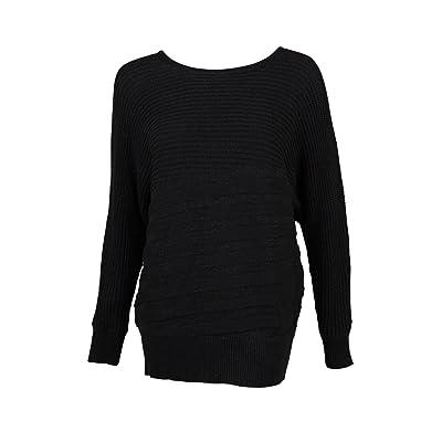 Alfani Womens Plus Metallic Shadow Stripe Pullover Sweater