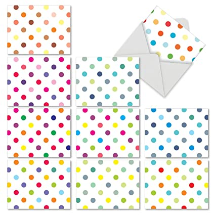 Happy Dots all-occasion Funny tarjeta, color 10 Assorted ...