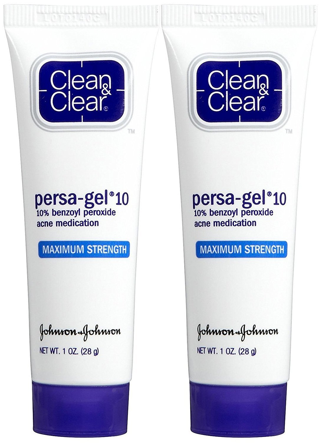Clean & Clear Persa- Gel 10 Acne Treatment, Maximum Strength, 1 oz, 2 pk