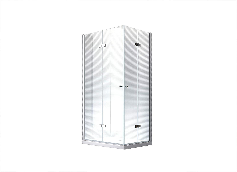 Hera Puerta plegable ducha cabina ducha Mampara – 8 mm – De Vidrio ...